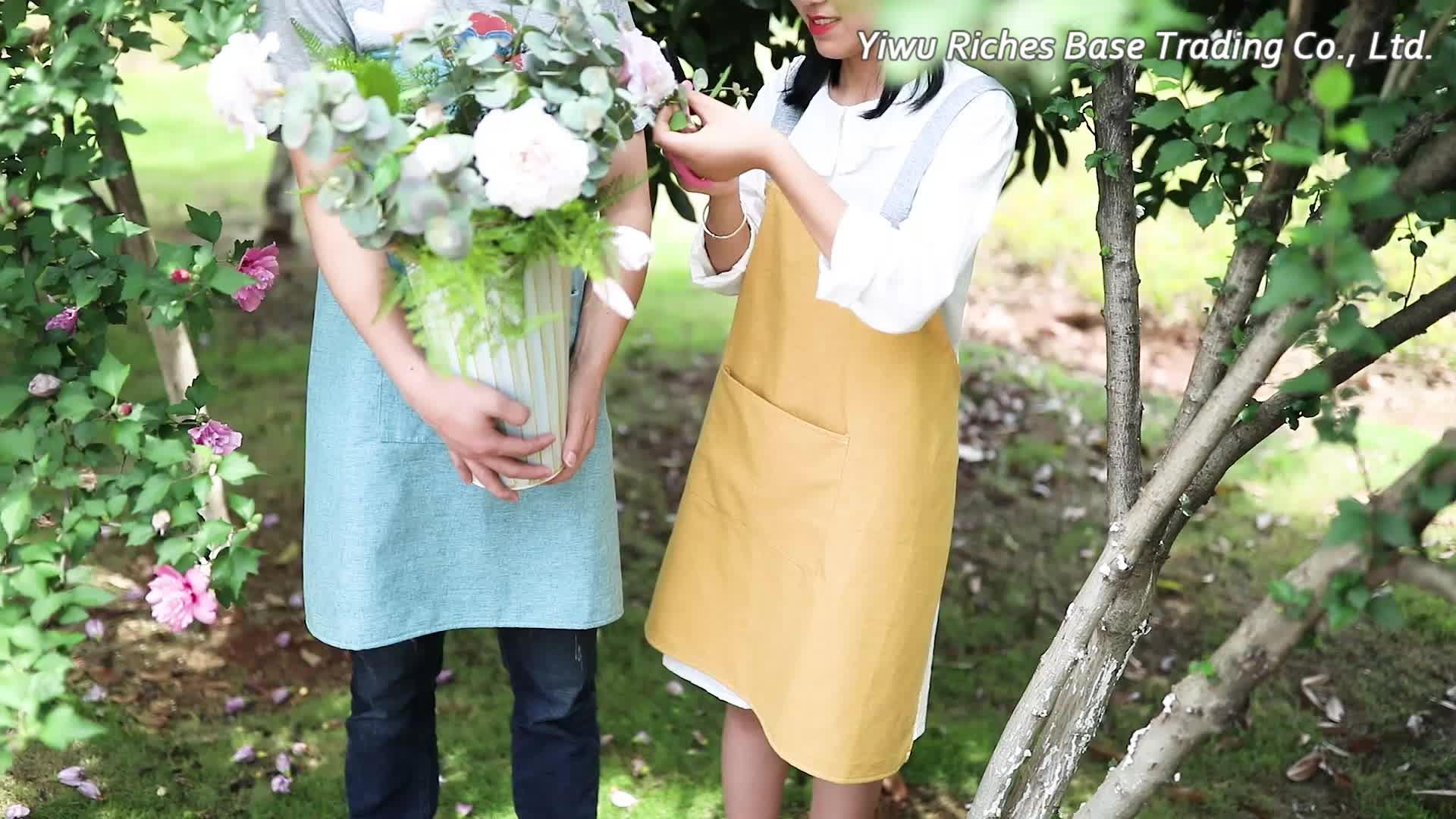 2019 ขายส่ง pure สีผ้าลินินทำอาหาร bbq ผ้ากันเปื้อนผู้หญิงราคาถูกห้องครัวผ้ากันเปื้อน unisex