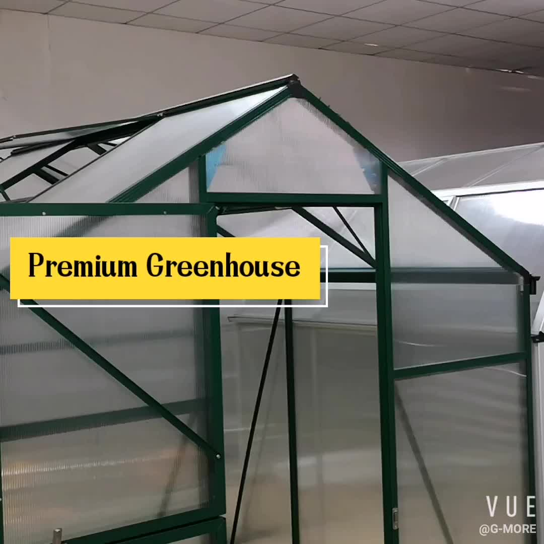 Modular Design 4mm Thick PC Double Wall Greenhouse - 281X210X210CM