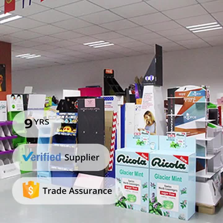 Good Quality Cheap 3 Tier Shop Retail Cardboard Floor Display for Shampoo
