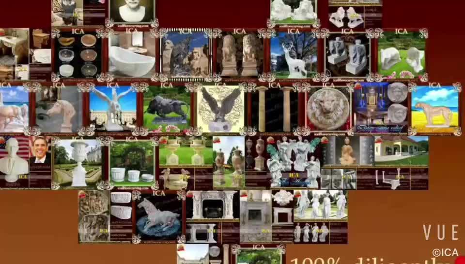 Stabile quattro stagione giardino statue di pietra di alta qualità quattro stagioni scultura