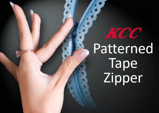 KCC Invisible zipper with pattern pressed tape for lady's wear