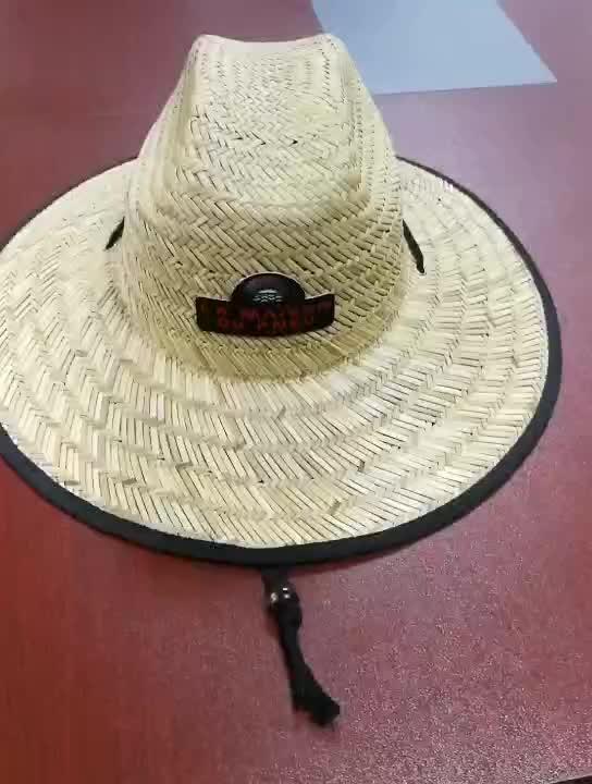 Commercio all'ingrosso A Buon Mercato Fatto A Mano Della Spiaggia di Estate Cappello di Paglia con Logo Personalizzato