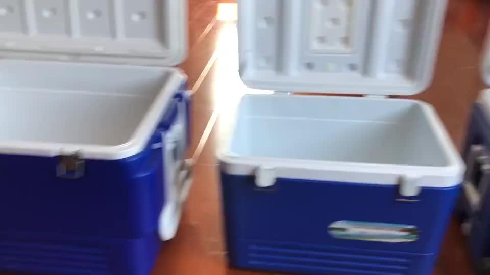 Купить Ice грудь колеса 80l синий рекламные большой ёмкость партии кулер большой портативный пластик ролик кулер коробка с колёса
