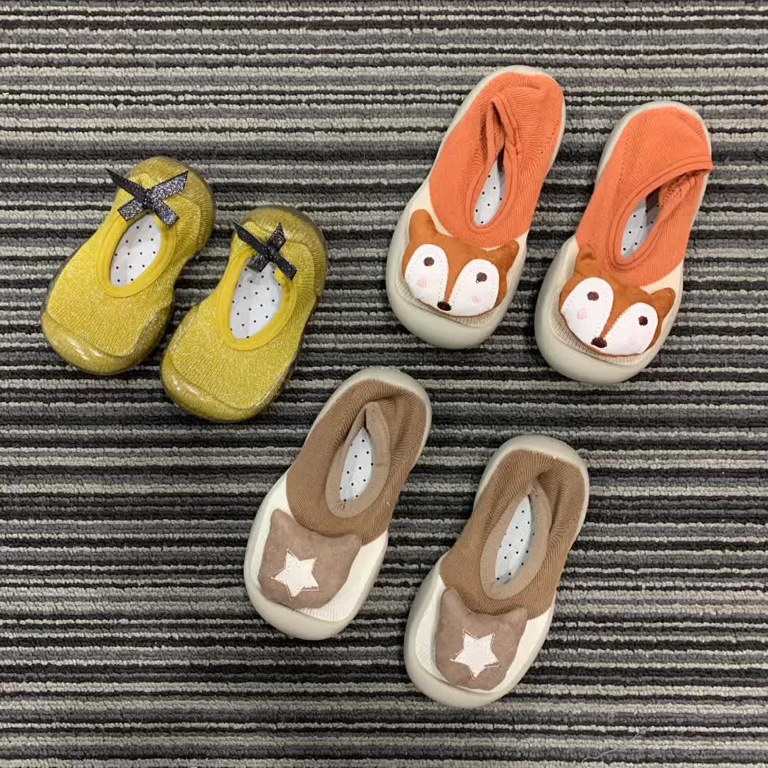 Nouveau Bébé Chaussures de Sol Version Coréenne De La Proue Fond Mou antidérapant Bébé Chaussettes Chaussures