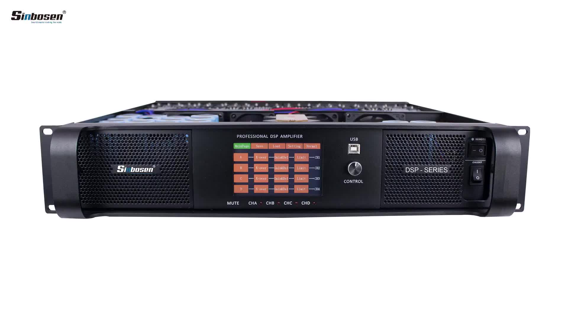 DSP-20Q Professional class d Audio stage DSP Module Power karaoke stereo Amplifier 2000w 4 channels