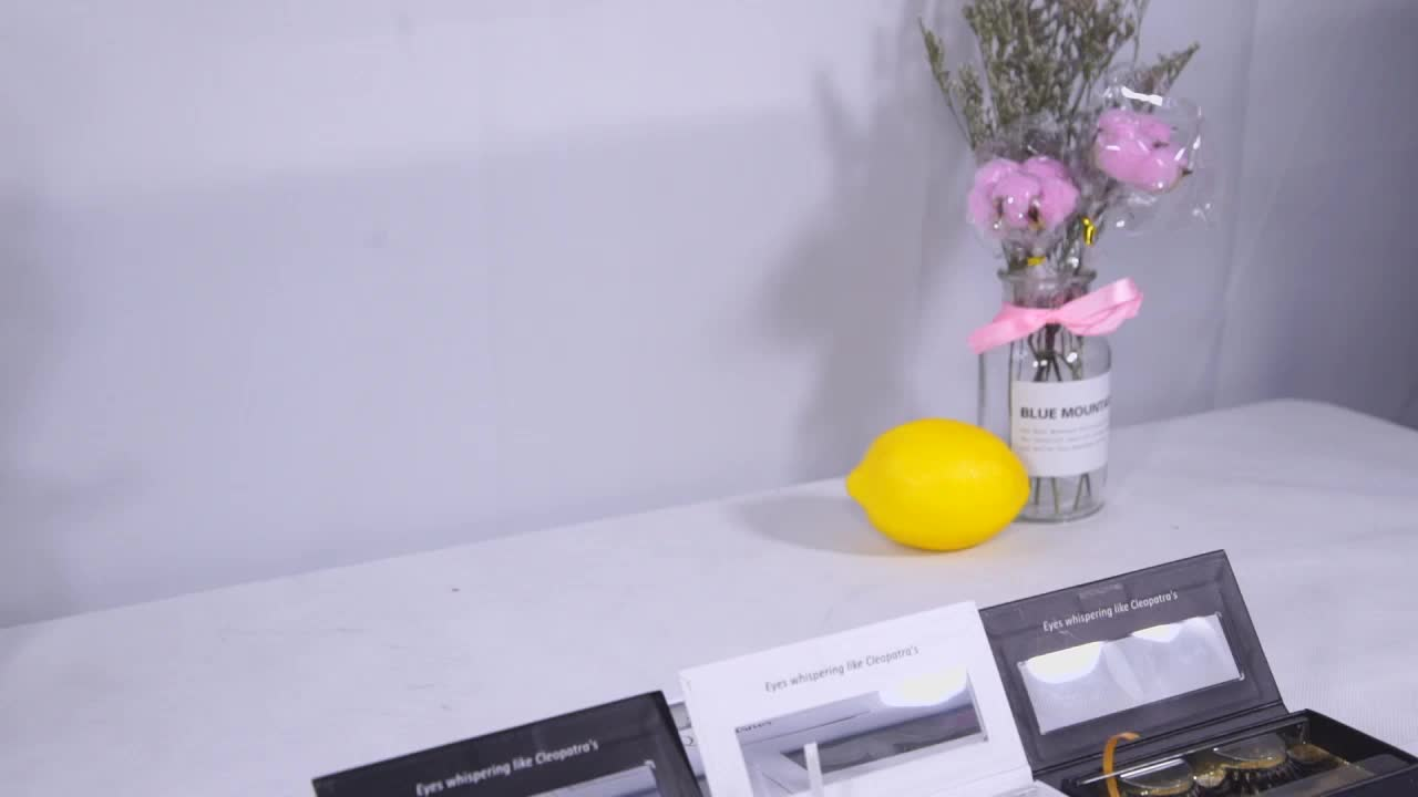 Großhandel grausamkeit frei seide klar band wimpern 3d nerz wimpern proben glitter private label leere benutzerdefinierte wimpernverpackung box