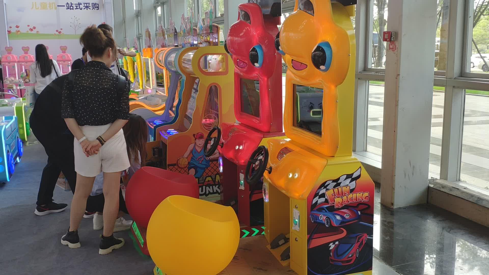 SUNLYN Crianças Moeda Operado Carro de Corrida Simulador de condução Da Máquina de Jogo de vídeo