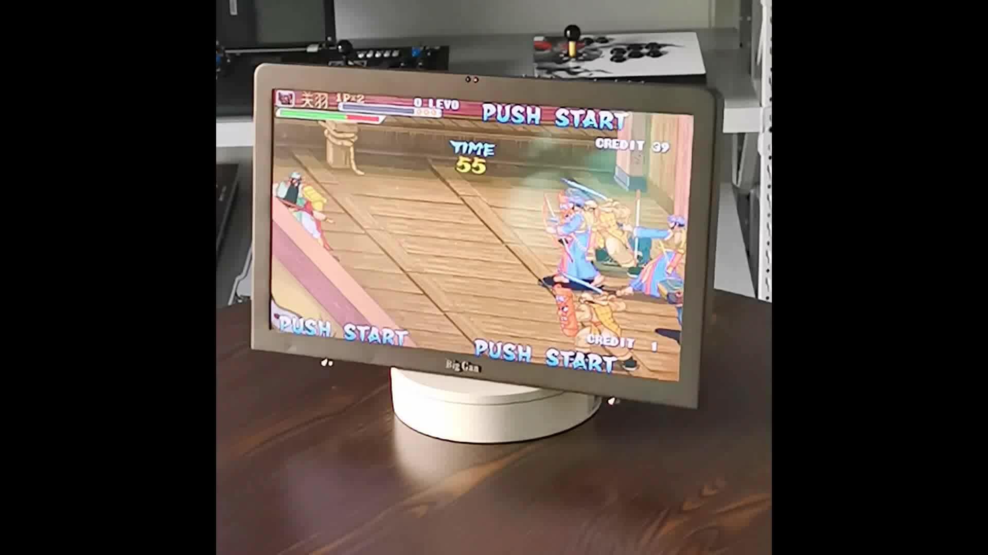 卸売新テレビアーケード 18.5 インチスクリーンのビデオゲームコンソールサポート 2 プレーヤーハンドル戦闘機