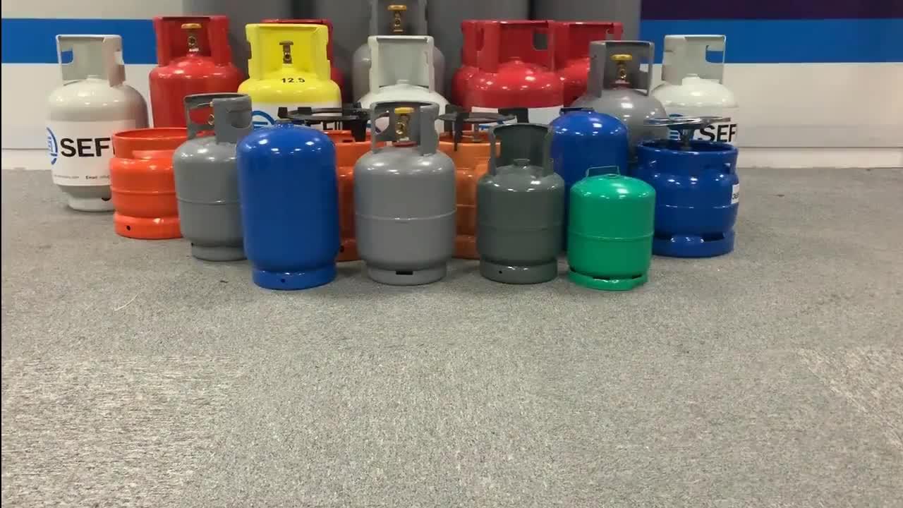 보장 품질 인증 도트/TPED 15kg LPG 가스 실린더 도매