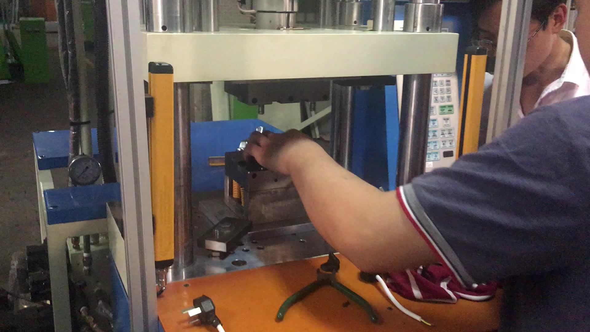 Taiwang25t 수직 실리콘 고무 사출 성형 기계