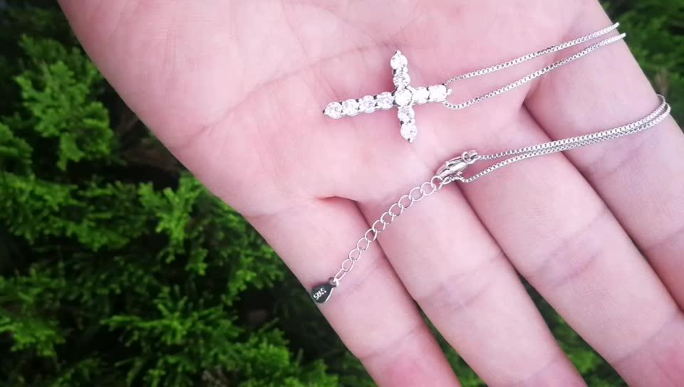 HP068 Huilin bijoux style américain croix diamant pendentif collier pour unisexe