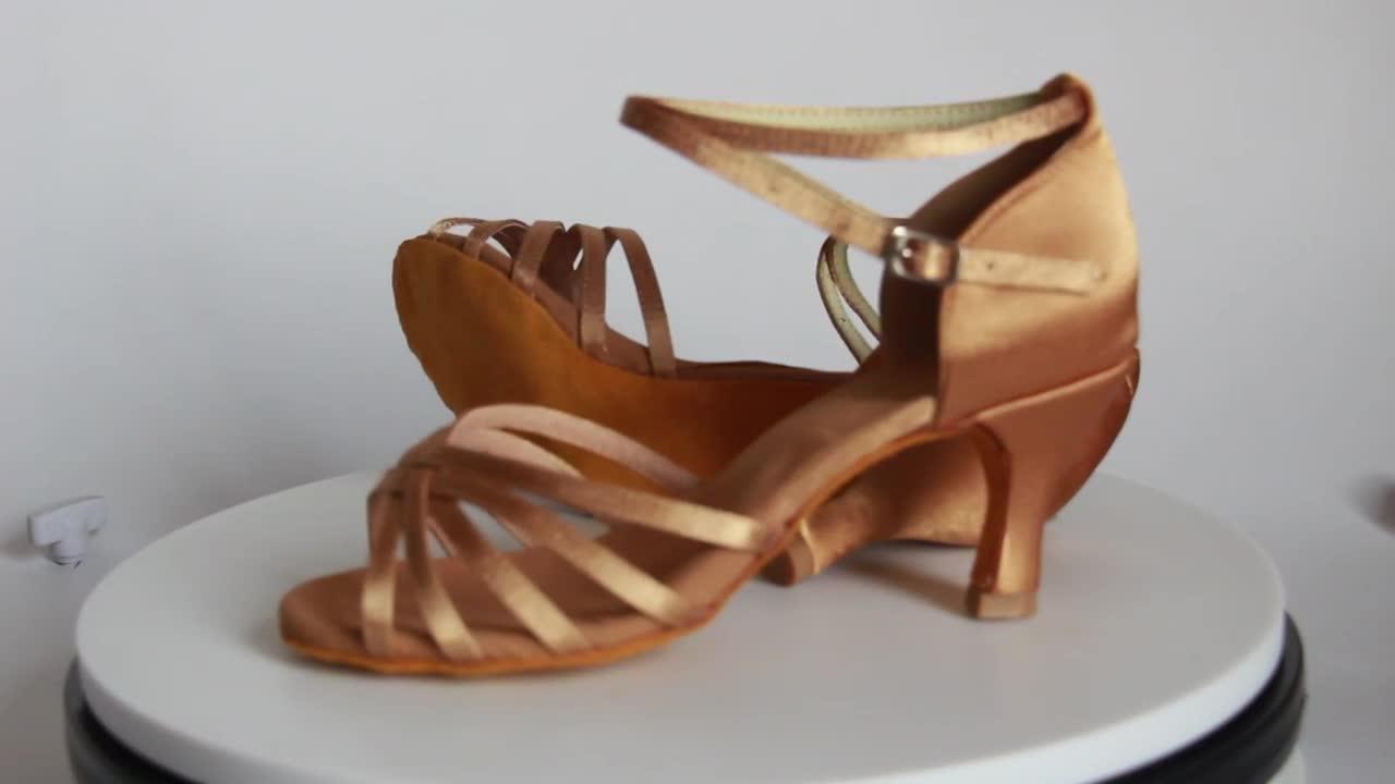 802 damas baile salsa latina zapatos de baile de las mujeres al por mayor
