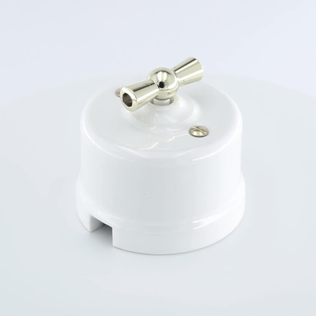 خمر مفاتيح الاتحاد الأوروبي القياسية/خمر الرجعية الأوروبية السيراميك دواسة دائرية مستوى جدار ceramicswitch