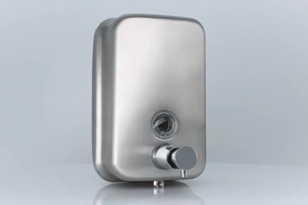 Factory Price stainless steel hotel wall mounted shampoo dispenser with key lock