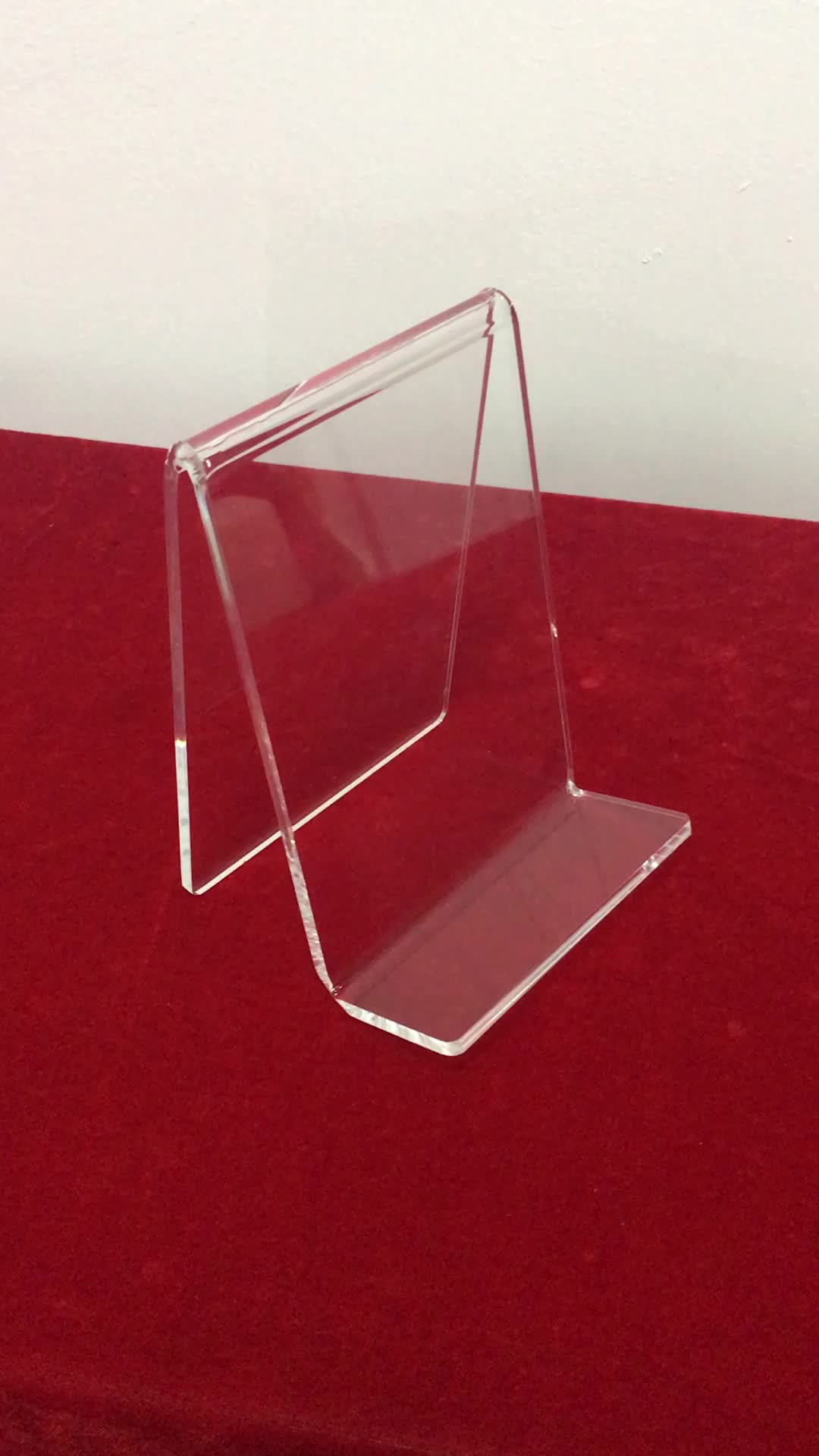 Clear Acrylic Plastic Display Stand Easel