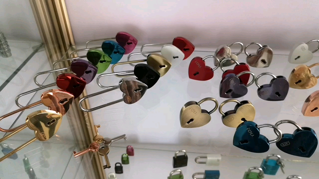 A01-001HW EN73 heart lock very popular valentine's gift or use for crystal pendant