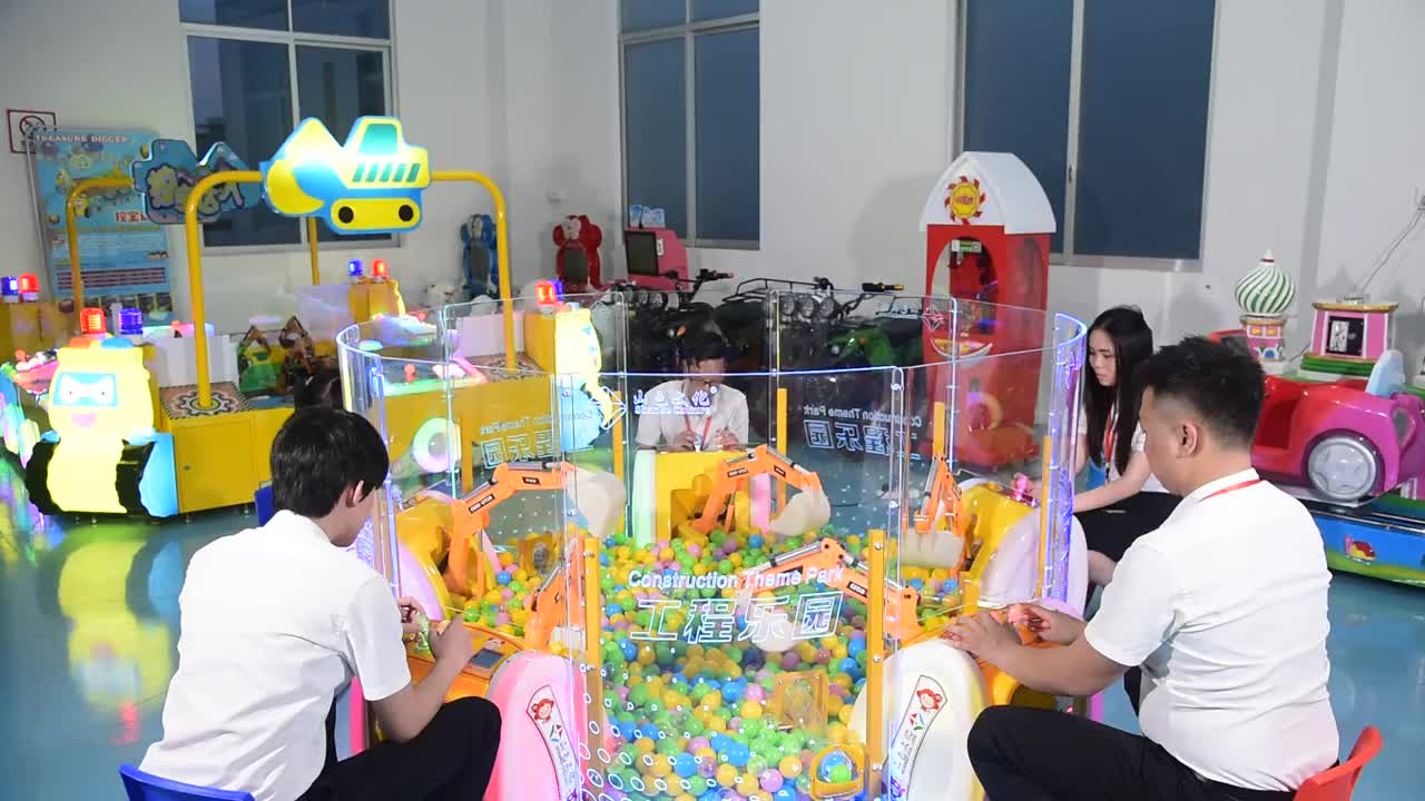 Amusement Park  Earn Money Mini Construction  Excavator Ride Coin Operated Simulator Games  for Kids