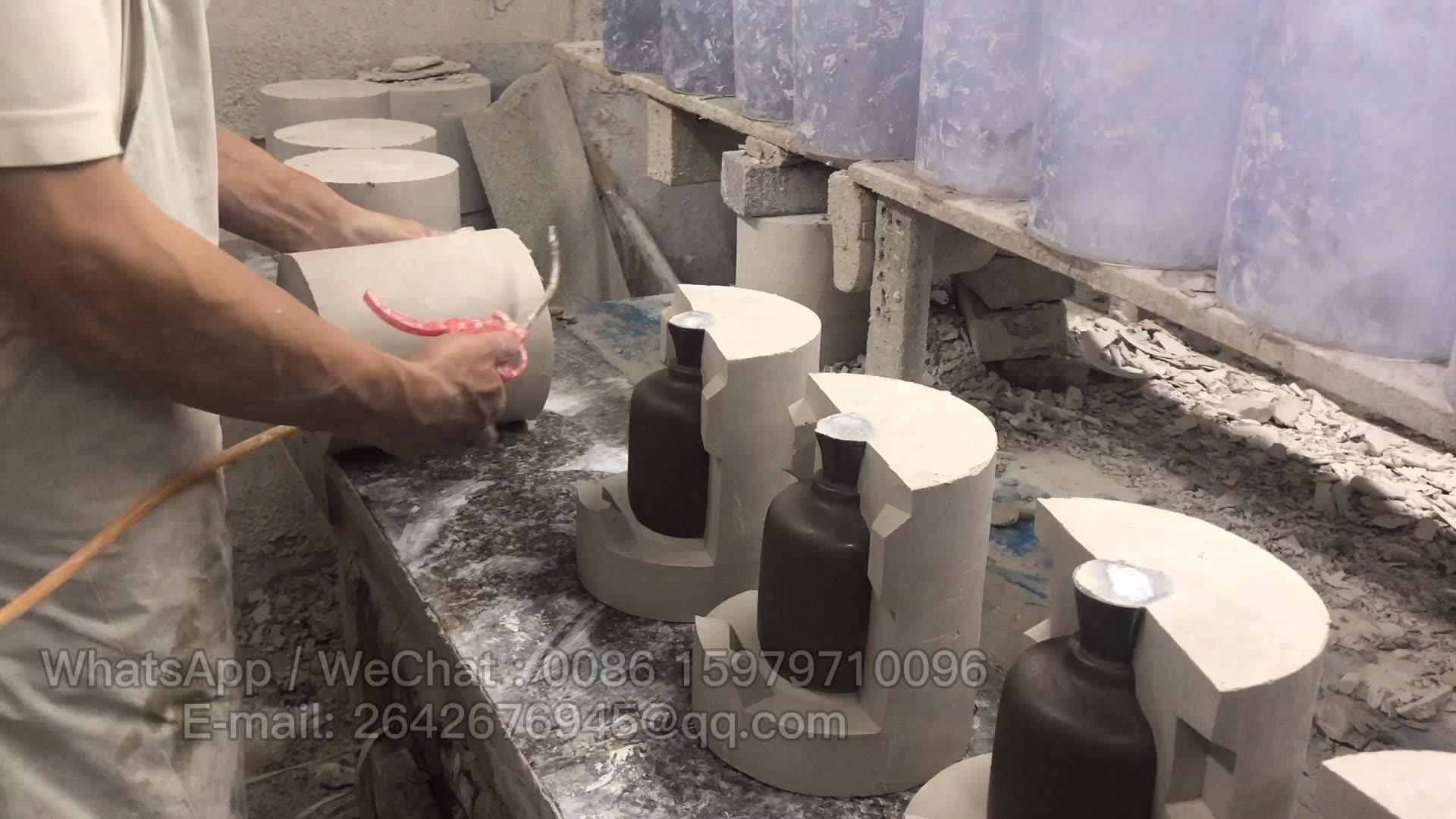 Прямые оптовые поставки из китайской фабрики Керамическая бутылка ваза цветной глазурью керамический декоративный набор бутылок для fambe глазурью керамический арома-диффузор