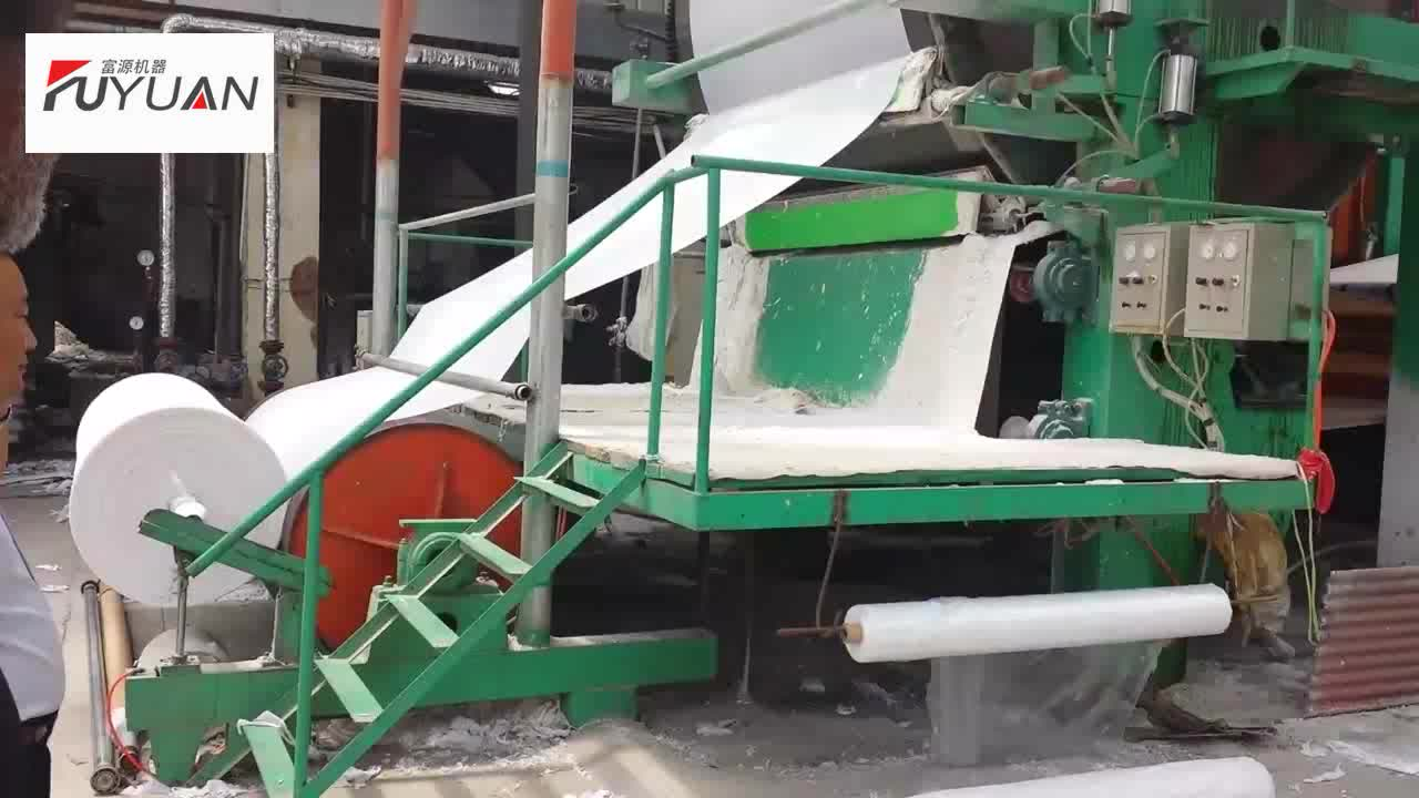 Waste Recycling Manufacturing Production Line Mill Tissue Toilet Roll Paper Making Machine Price