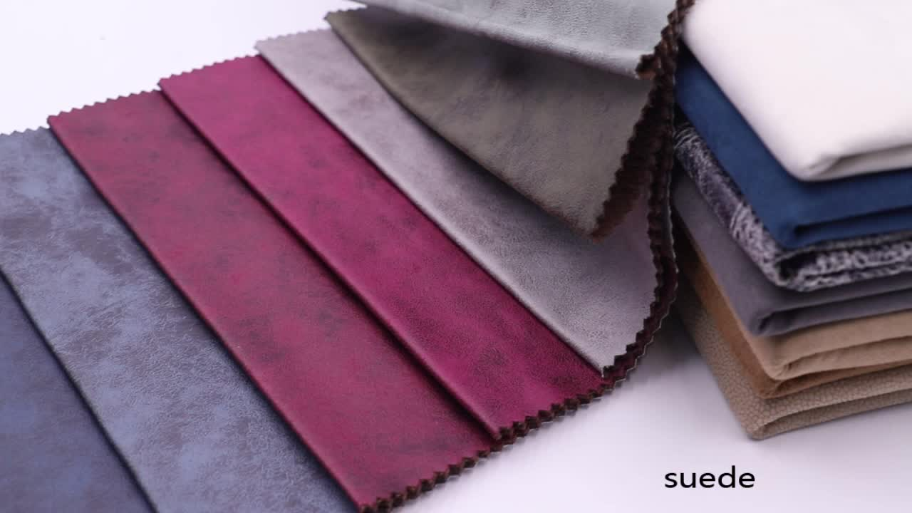 Fashion comfortable antistatic fade suede upholstery couch faux leather upholstery fabric