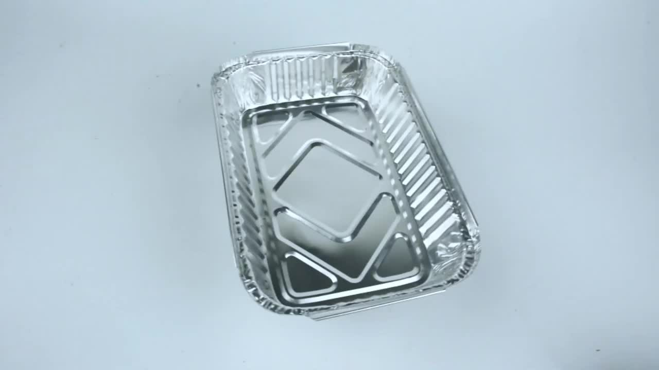 Food Grade Aluminium Foil Container/ Carryout Lunch Box/Tray with Cardboard Lid Household Items