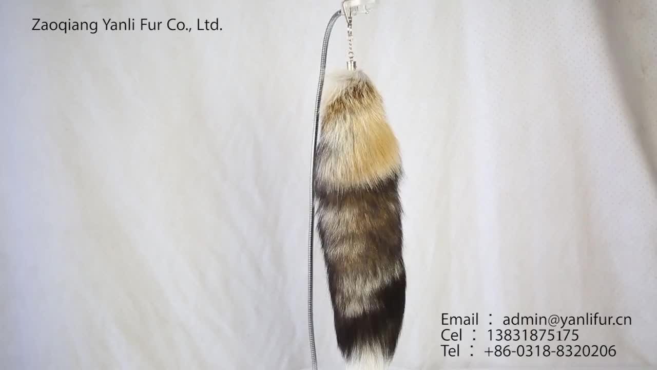 Best selling products fashion natural white long real fox fur tail