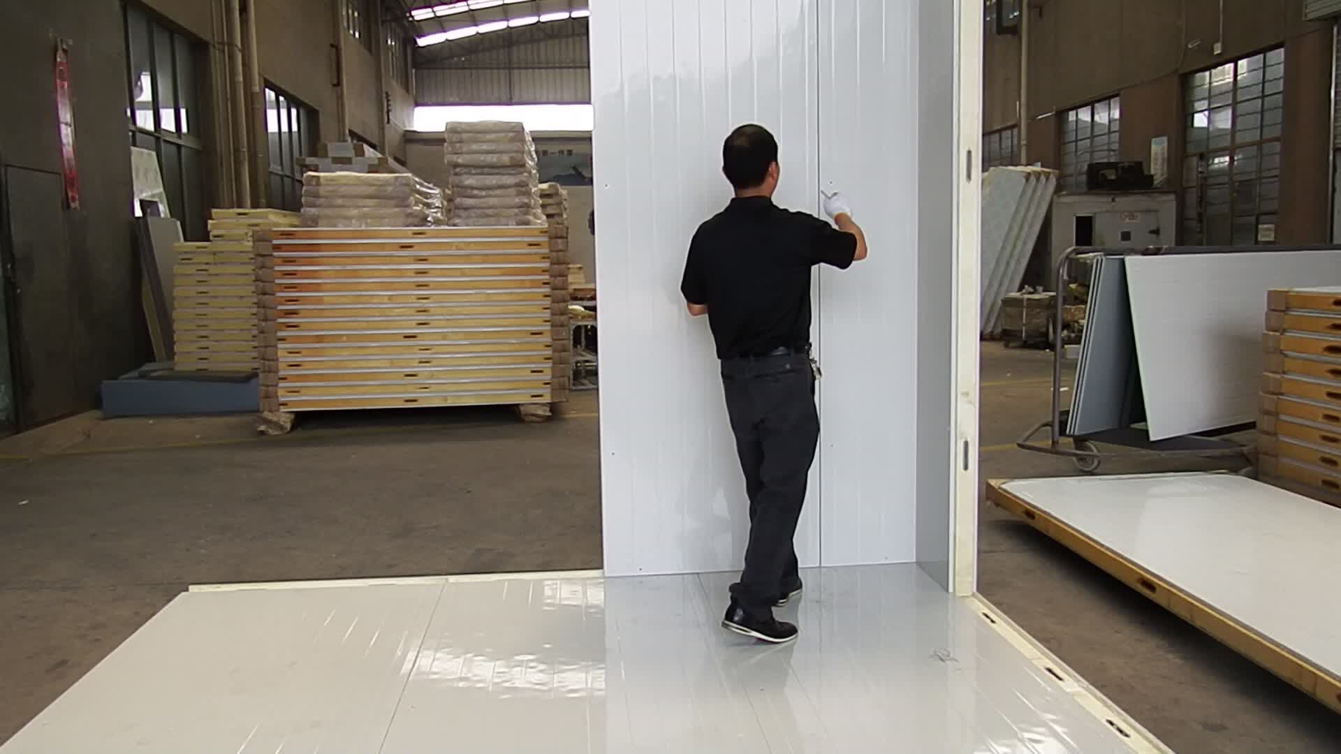 Niedrigen Preis Fertig Kühlraum Chiller Schockfroster Polyurethan Schaum Sandwich 120mm dicken PU Isolierung Wand Panels Preis