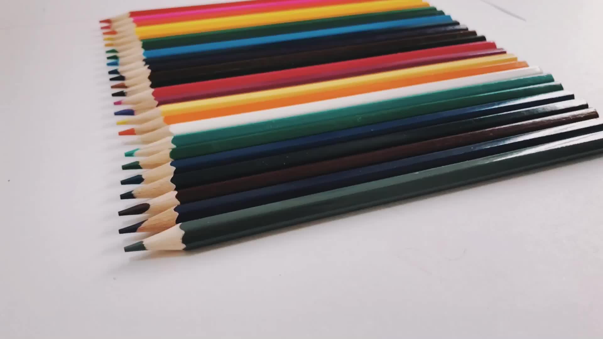 Lápis de Cor Lápis De cor De Madeira Natural 72 Conjunto com a caixa