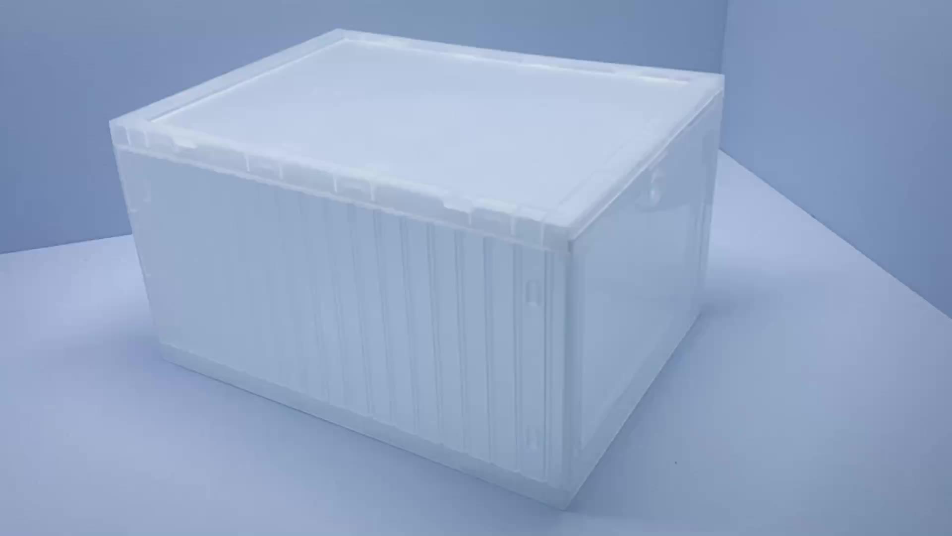 Grande seil-transparente Empilhável Dobrável Dobrável caixa de Sapato Organizador À Prova D' Água Pode Caber Pequeno/Médio Sapatos