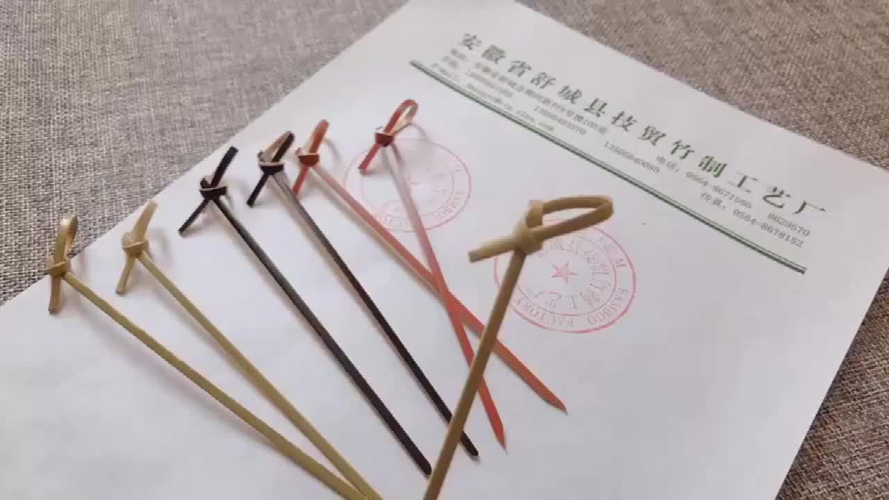 Lage Prijs Decoratieve Cocktail Bamboe Knoop Spiesjes Sticks Voor Sushi/fruit/broodjes