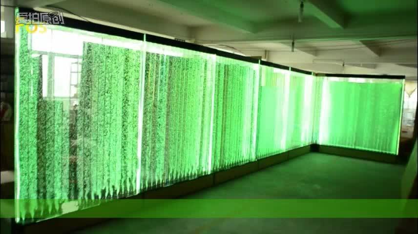 장식 아크릴 분수 버블 벽 물 기능 레스토랑
