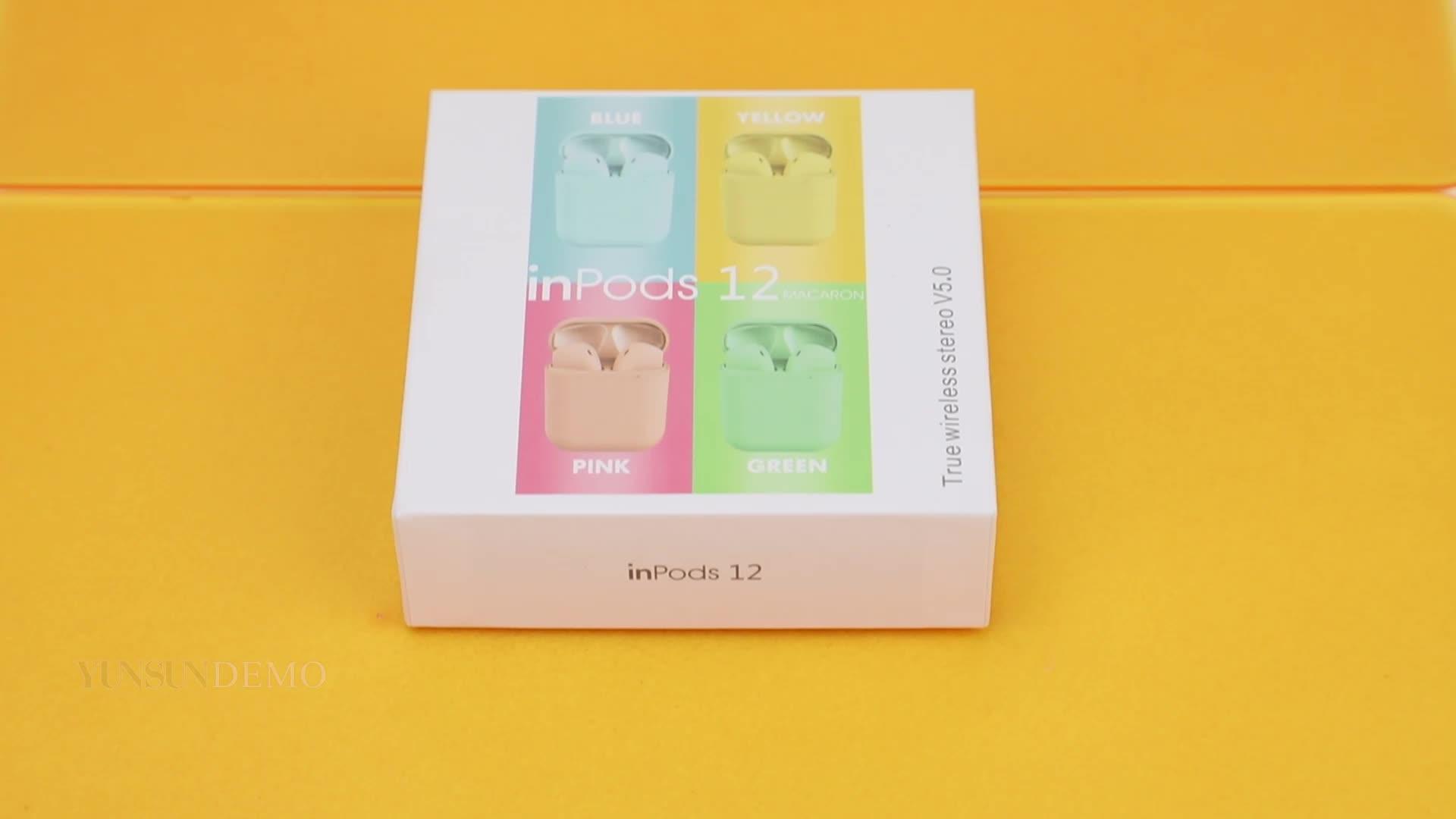 Popup Fenster I12 TWS Bunte Macaron i10 HD Stimme Bt5.0 Hände Freies Ohr Stereo Kopfhörer Sport tws i9s i12