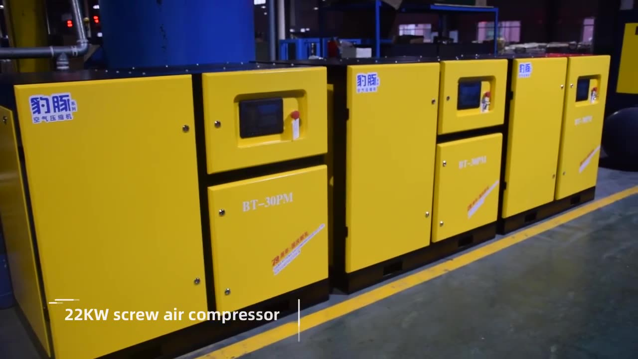 200 kw 270 HP Electric Industrial Rotary Screw Air Compressor 200Kw Industrial AC Power 270Hp Screw Air Compressor