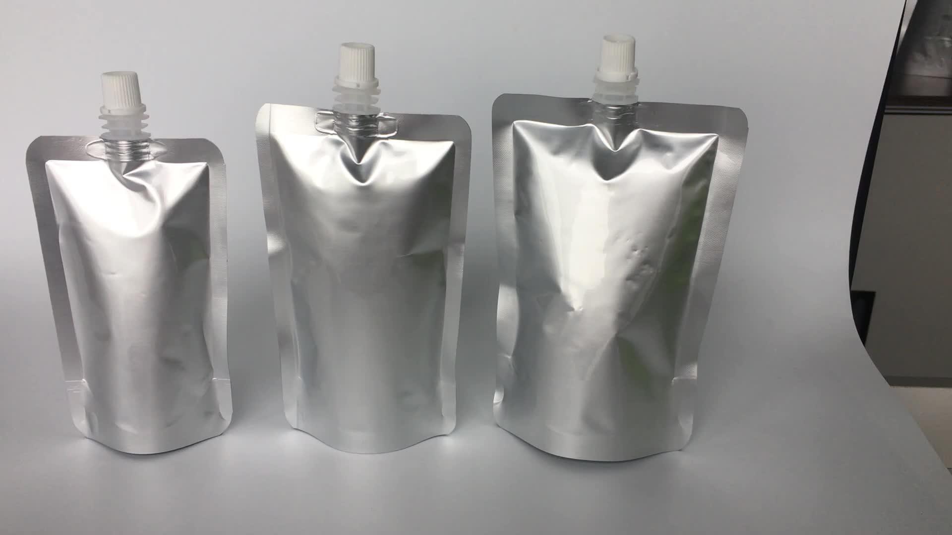 最高品質の純粋なアルミ箔スパウトパウチでハンドル 500 ミリリットル 1L 2L 3L 4L 5L 洗剤液体包装