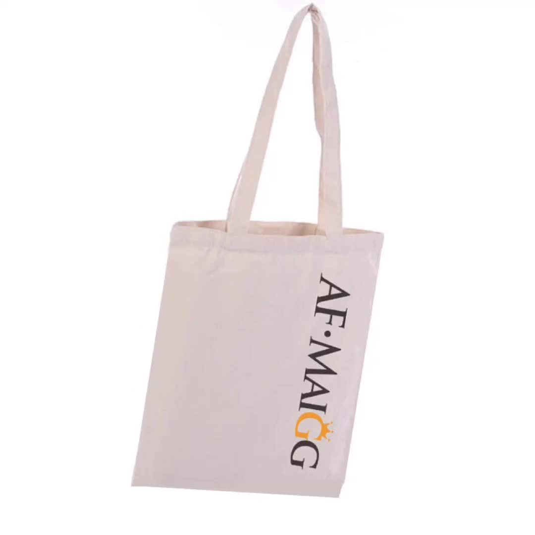 Natural Cotton Canvas Grocery Tote Bag Bulk Plain Fabric for Crafts Decorate Shopping Groceries Teacher Books Gifts