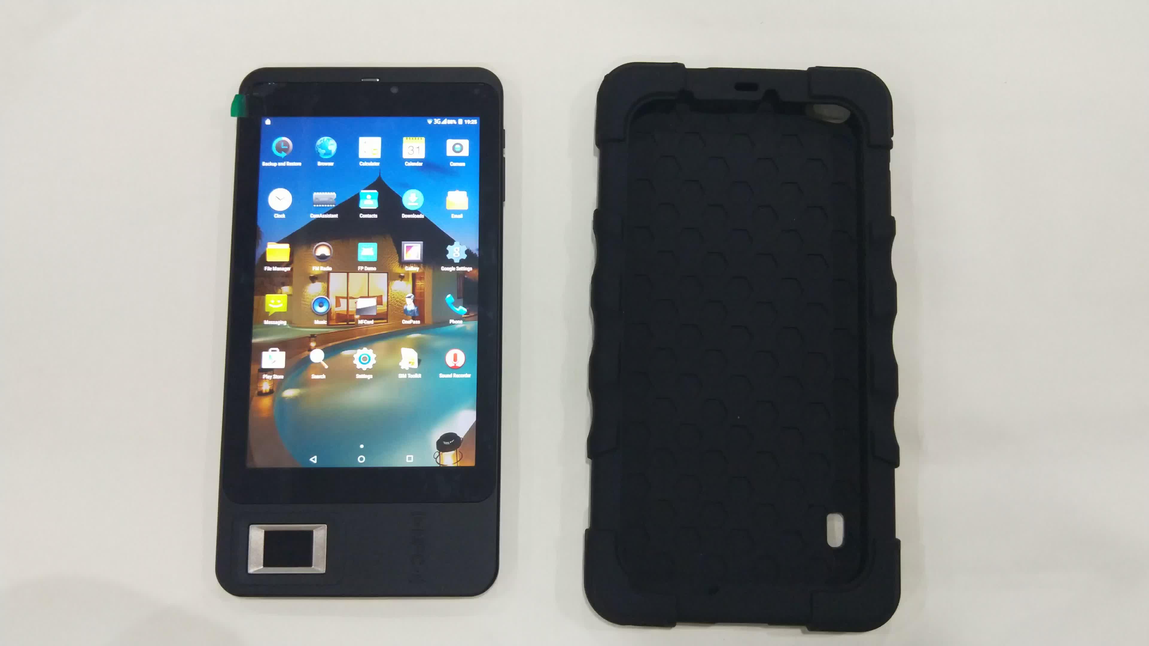 HF FP07 del FBI Certificado de Android de huellas dactilares de biométrico lector de tarjeta inteligente con Wifi 3G GPS Bluetooth SMS