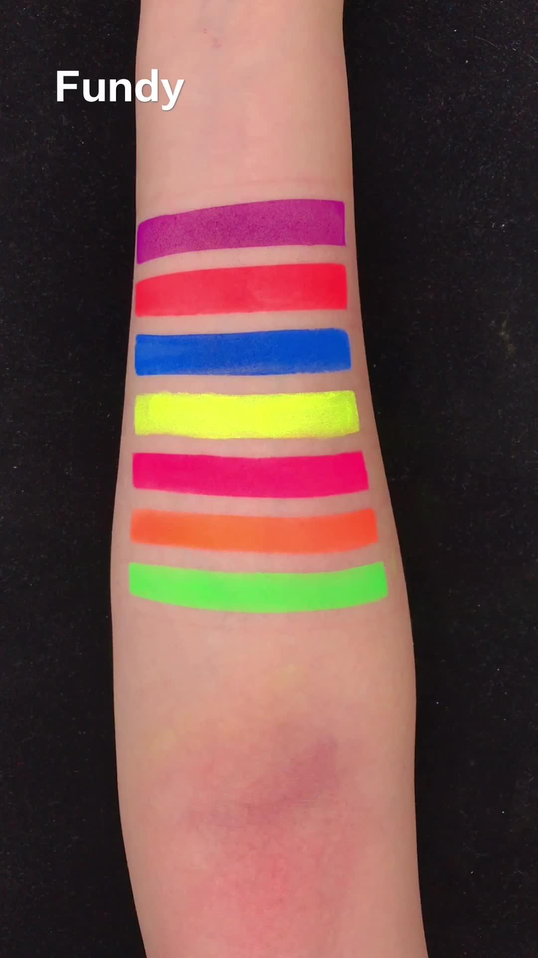 Cosmetica vegan geen merk groothandel make losse pigmenten geperst private label neon oogschaduw