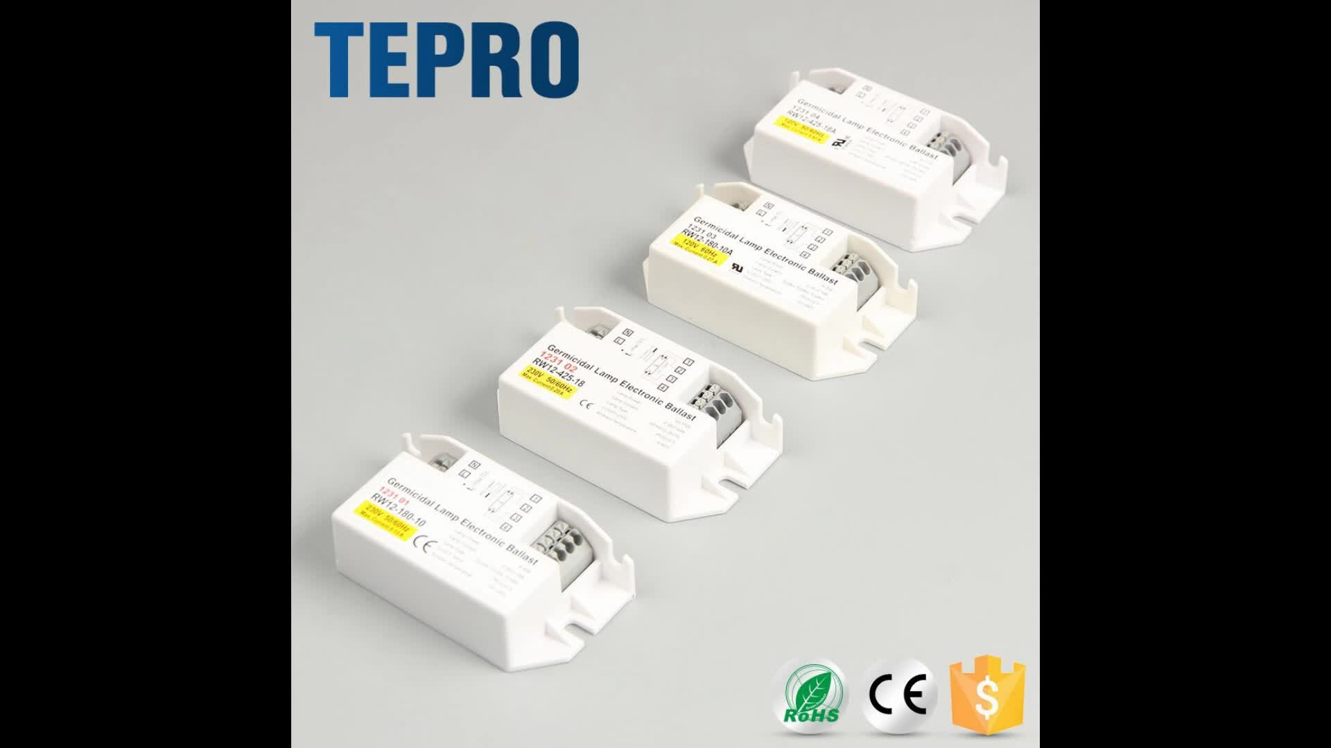 T5 T8 Uv-C Germicidal Light Electronic Ballasts 10W 30W 36W 40W 55W Uvc Lamp Electronic Ballast For 58W UV Lamp
