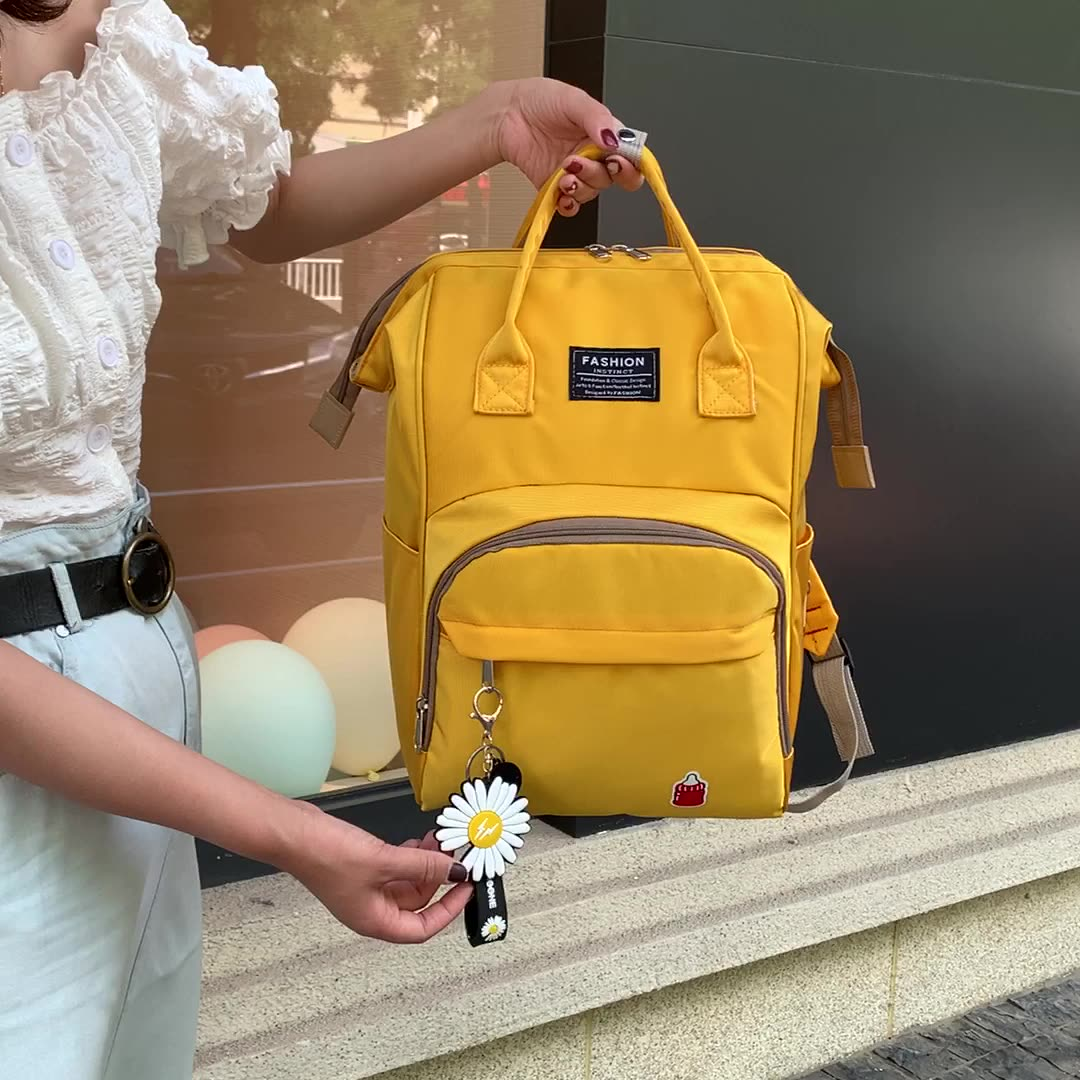 2020 china factory cheap colorful stylish large capacity mommy backpack baby diaper bag with oem logo