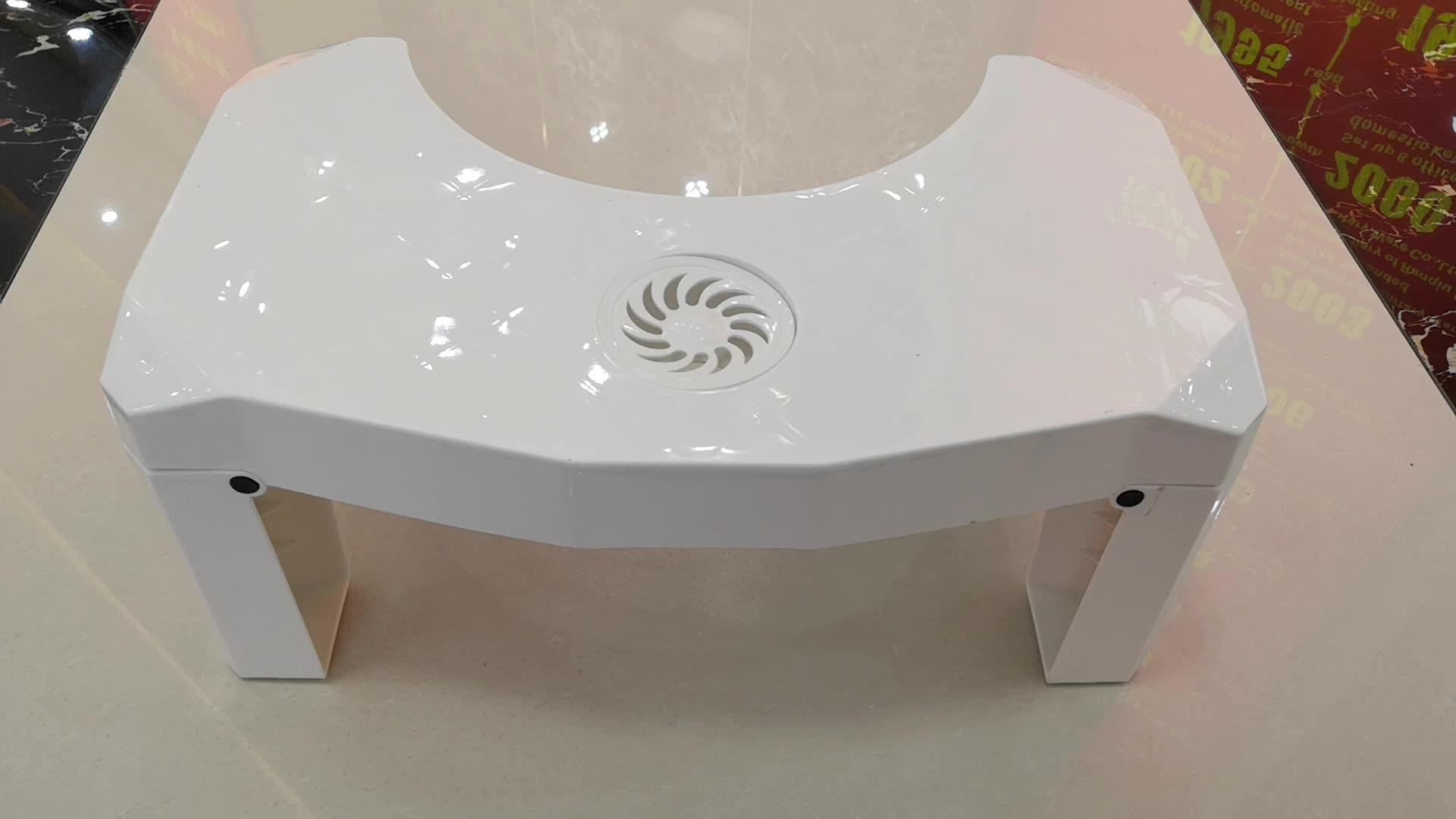 عدم الانزلاق الحمام البلاستيك للطي القرفصاء كرسي مرحاض