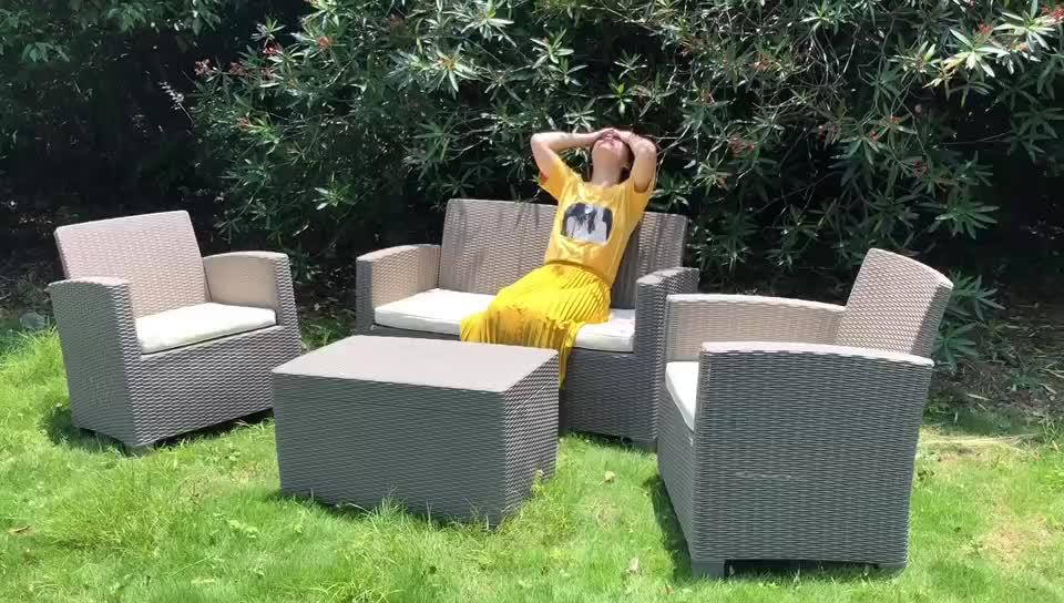 Modern classic outdoor rattan garden furniture plastic sofa set