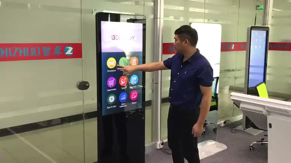 55 inch floor stand 4K touch screen Windows digital signage