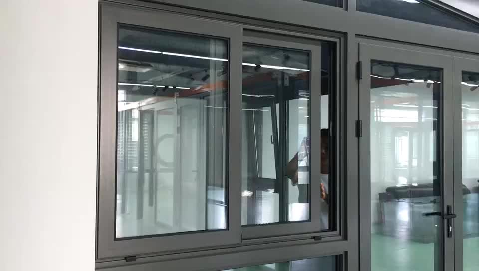Cheap Price Aluminum Sliding Window With Double Glass