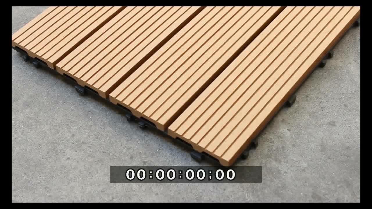 Selezione completa di plastica griglia in legno wpc esterno piastrelle ad incastro piattaforma composita