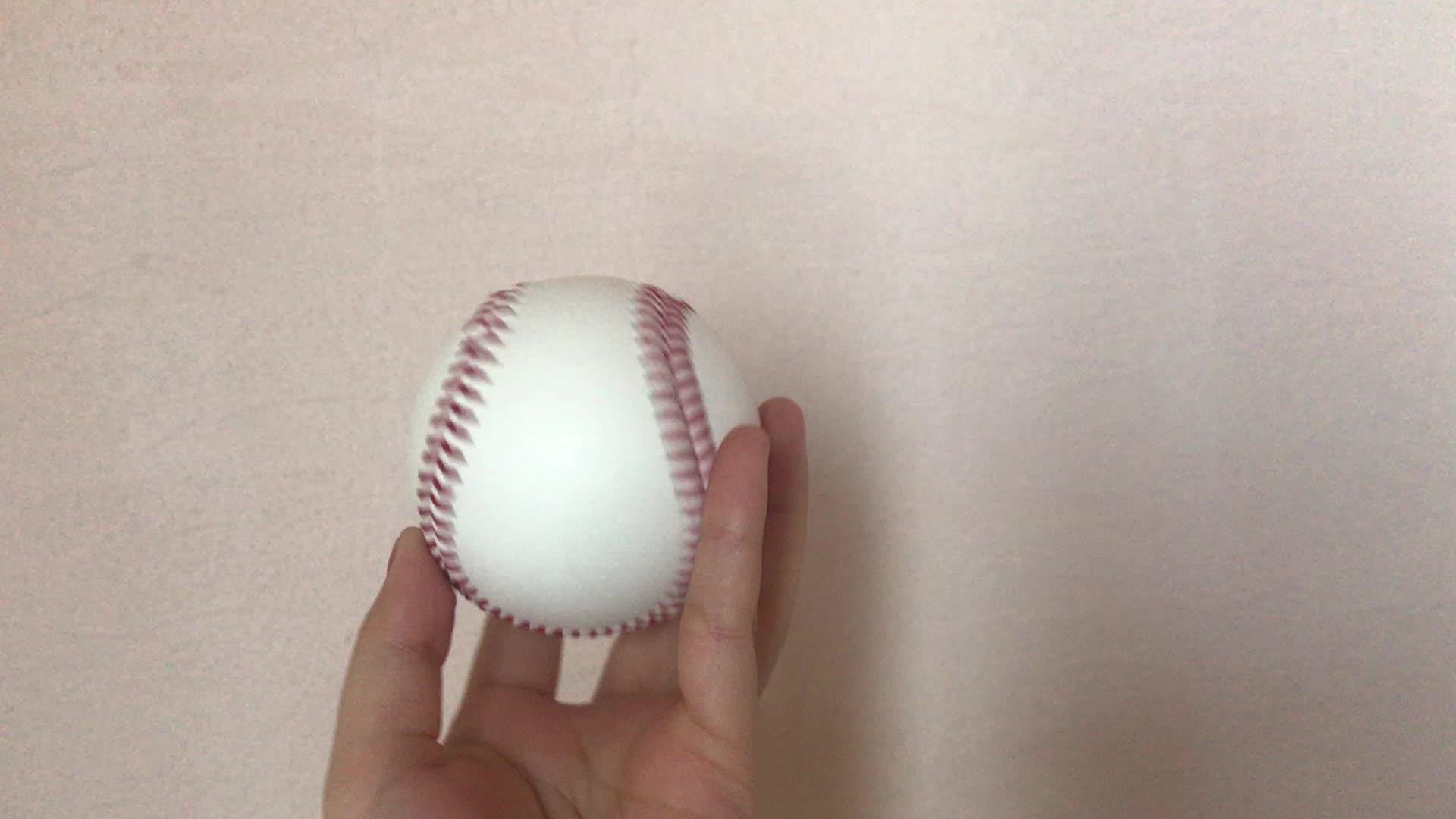 Softball amarelo Em Branco Mini Bolas De Couro