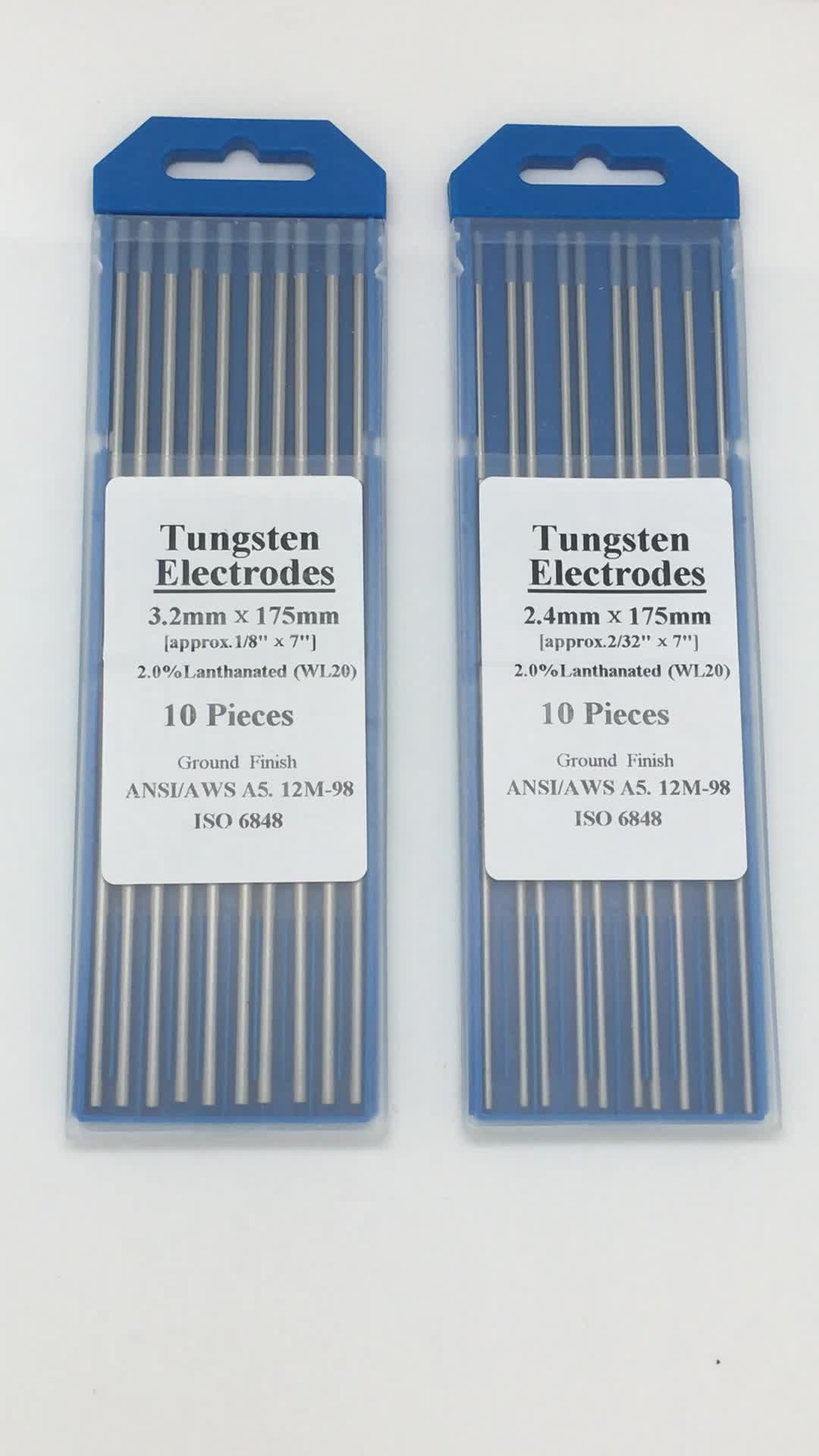 High Quality for Welding Blue WL20 2.0% Lanthanated Tungsten Electrode