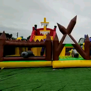 Customized  inflatable bounce water slide jumping cartoon inflatable bouncer slide
