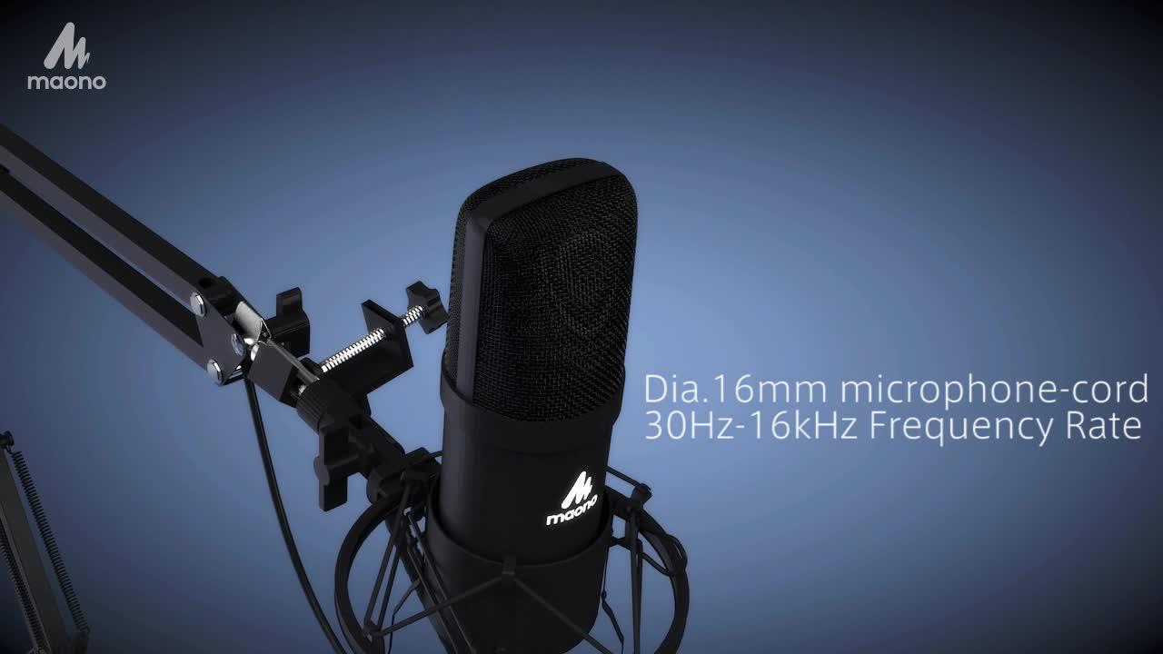 Professional Noise reduction 192khz 24bit usb Podcasting microphone