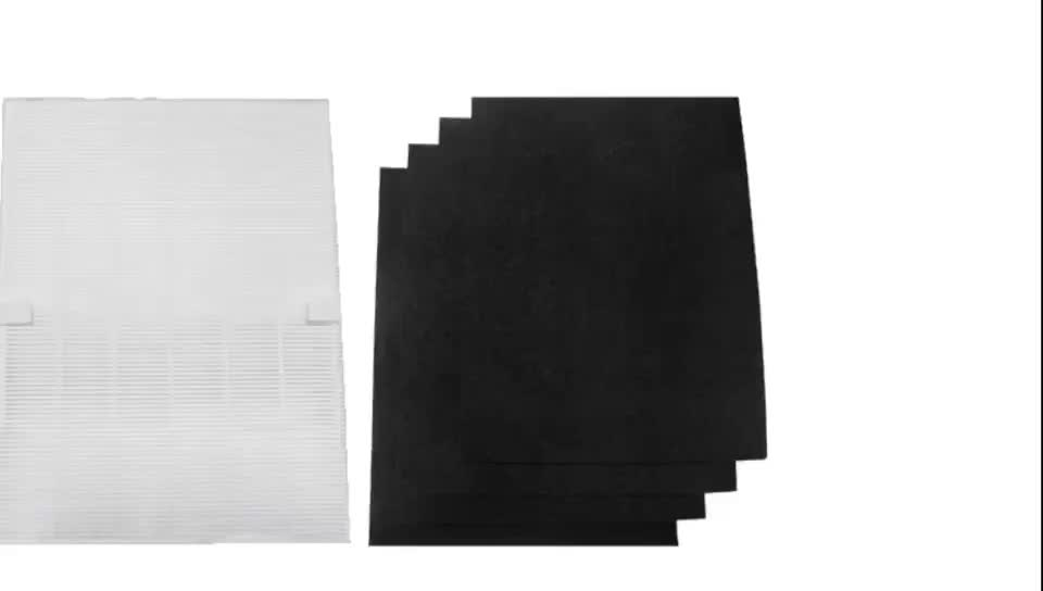 Replacement H13 HEPA Filter A with 4 Carbon Filters for Winix 115115 Size 21 Air Purifier 5300 6300 5300-2 6300-2 P300 C535