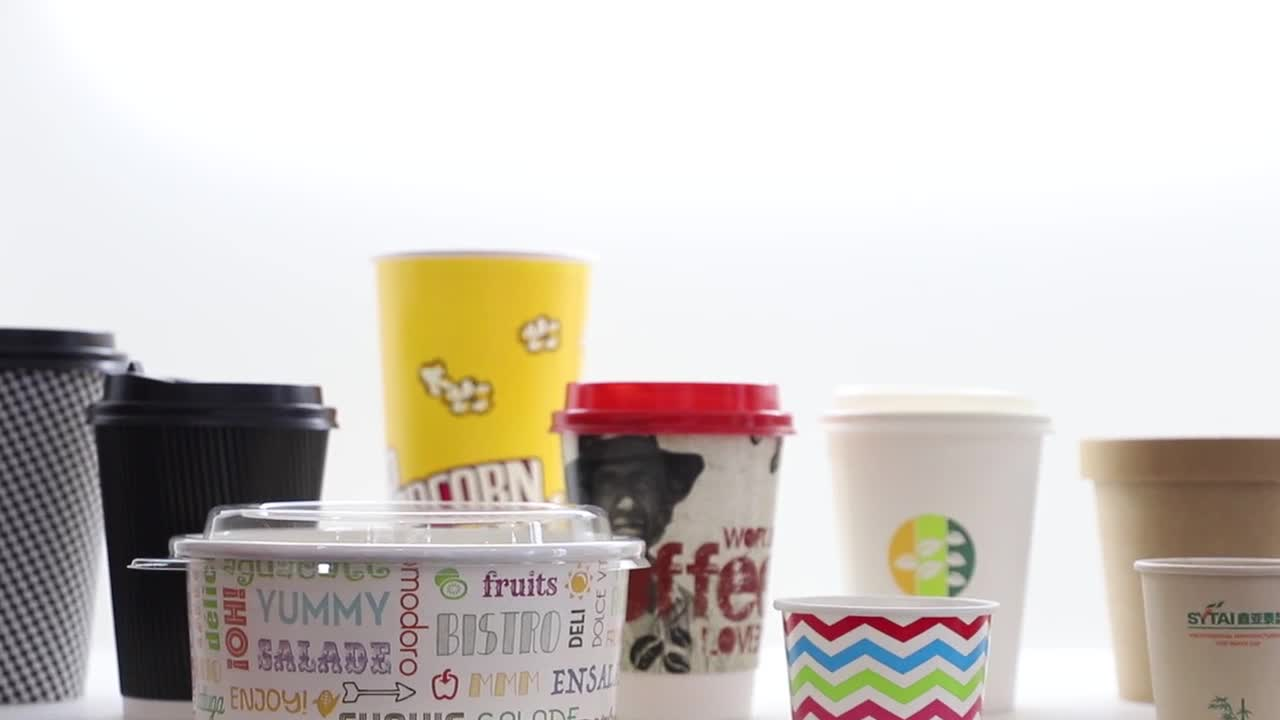 Ripple Wall Disposable Take Away Coffee Cup With Printed Logo